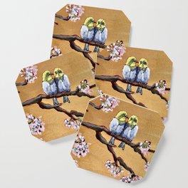 Cherry Blossom Chicks Coaster