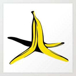 Banana's peel Art Print