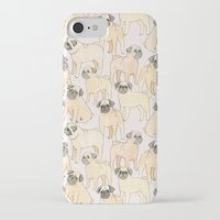 pugs iPhone & iPod Cases featuring Pugs by Sian Keegan