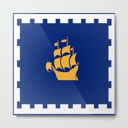 flag of quebec city 2– laurent, vieille capitale,quebeques,quebecker,beauport,limoilou. Metal Print