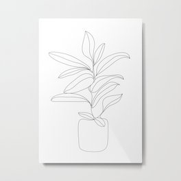 Minimal Rubber in a Pot Metal Print