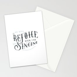 32/52: Zephaniah 3:17b Stationery Cards