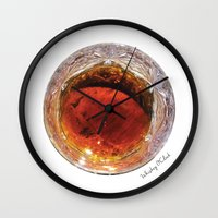whiskey Wall Clocks featuring Whiskey O'Clock by Gastronomista