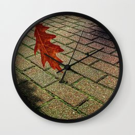 First Leave Of Autumn Wall Clock