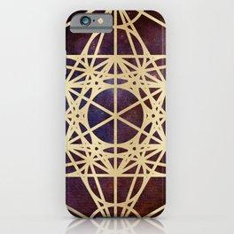 Metatron Mandala Moon Gold Bronze Copper iPhone Case