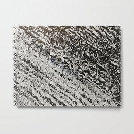 Black & White Swirls Metal Print