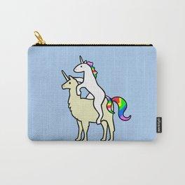 Unicorn Riding Llamacorn Carry-All Pouch