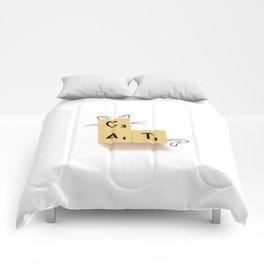 Cat Scrabble Comforters