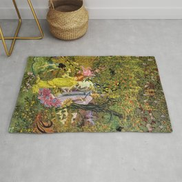 In the Magical Garden of Paradise by Dugald Stewart Walker Rug