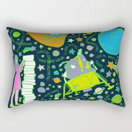 Girls Run the Universe Rectangular Pillow