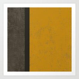 Abstract mustard grey Art Print