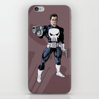 punisher iPhone & iPod Skins featuring The Punisher by Joseph  Griffin Art