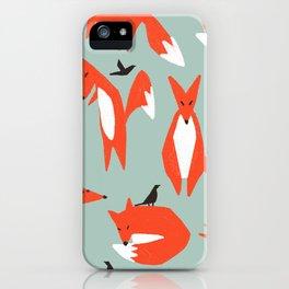 lying fox iPhone Case
