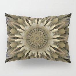 Waving 3D flower mandala Pillow Sham