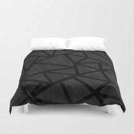 Ab Marble Zoom Black Duvet Cover