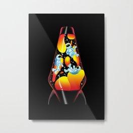 Space Explorers in a Lava Lamp Metal Print