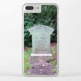 Master Gracey Clear iPhone Case