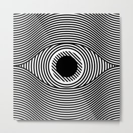 Moire Eye Metal Print