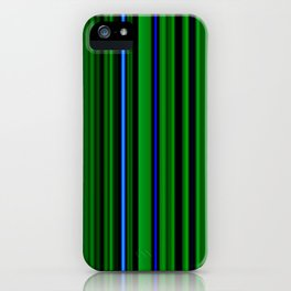 Green and blue stripes iPhone Case