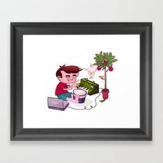 Digital Orchard Framed Art Print