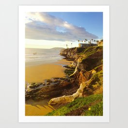 Pismo Beach Cliff Art Print
