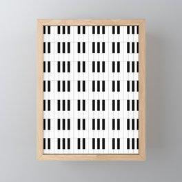 Piano Key Stripes Framed Mini Art Print