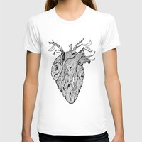 wooden T-shirts featuring Wooden Heart by tvfer