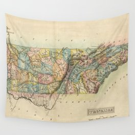 Vintage Map of Tennessee (1822) Wall Tapestry