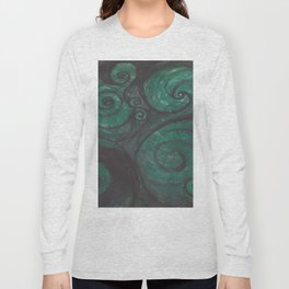 Swirl (black and green) Long Sleeve T-shirt