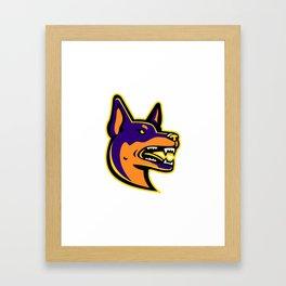 Australian Kelpie Dog Mascot Framed Art Print
