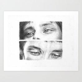 Arthur and Merlin Art Print