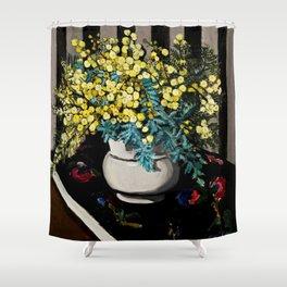 """""""Wattle"""" by Margaret Preston Shower Curtain"""