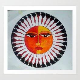 Traditional sun Art Print