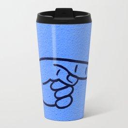 Direction Blue Travel Mug