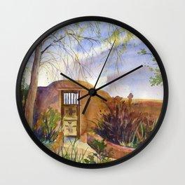 A Southwestern Gate Wall Clock