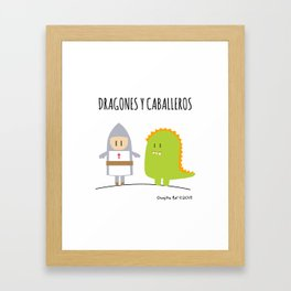 Dragones y Caballeros Framed Art Print