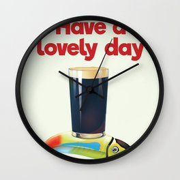 Have a Lovely Day Wall Clock