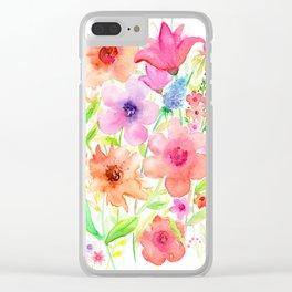 My garden Clear iPhone Case