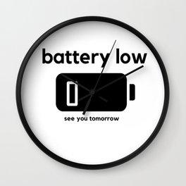 Battery Low Wall Clock