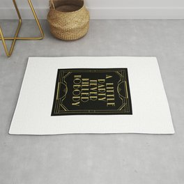 A little party - black glitz Rug