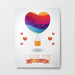 Valentine balloon Metal Print