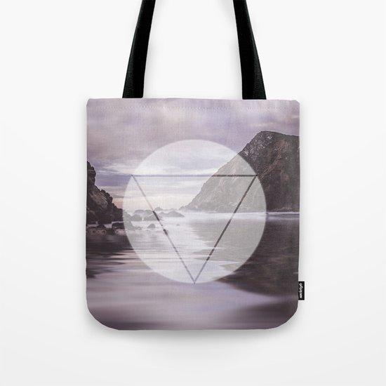 Calm Waters sacred geometry circle triangle Tote Bag