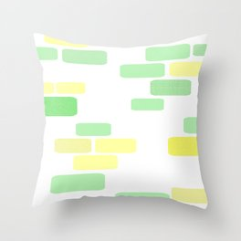 Exposed [pastel] Brick Throw Pillow