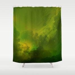 Fantasy Sci-Fi Green Galaxy Universe Shower Curtain