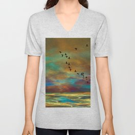 Winging Home Unisex V-Neck