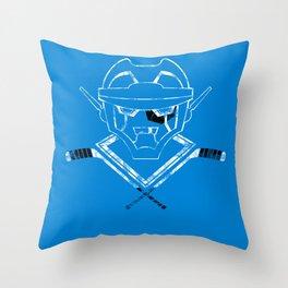 Autonomous Hat Trick Club (black and white) Throw Pillow