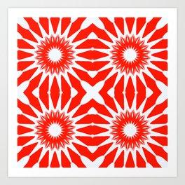 Red Pinwheel Flowers Art Print