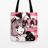 giants Tote Bags featuring Tiny Giants by Chandelina