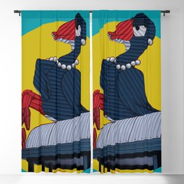 Lady Pukeko Blackout Curtain