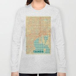 Tampa Map Retro Long Sleeve T-shirt